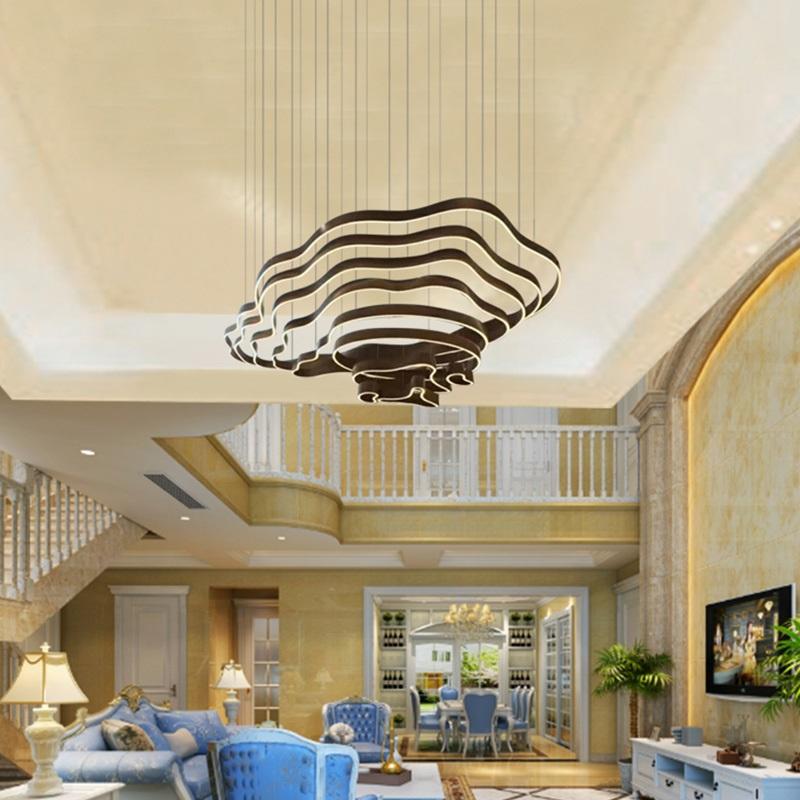 大型非标酒店大堂吊灯现代简约异形梯田别墅售楼部沙盘山脉客厅灯