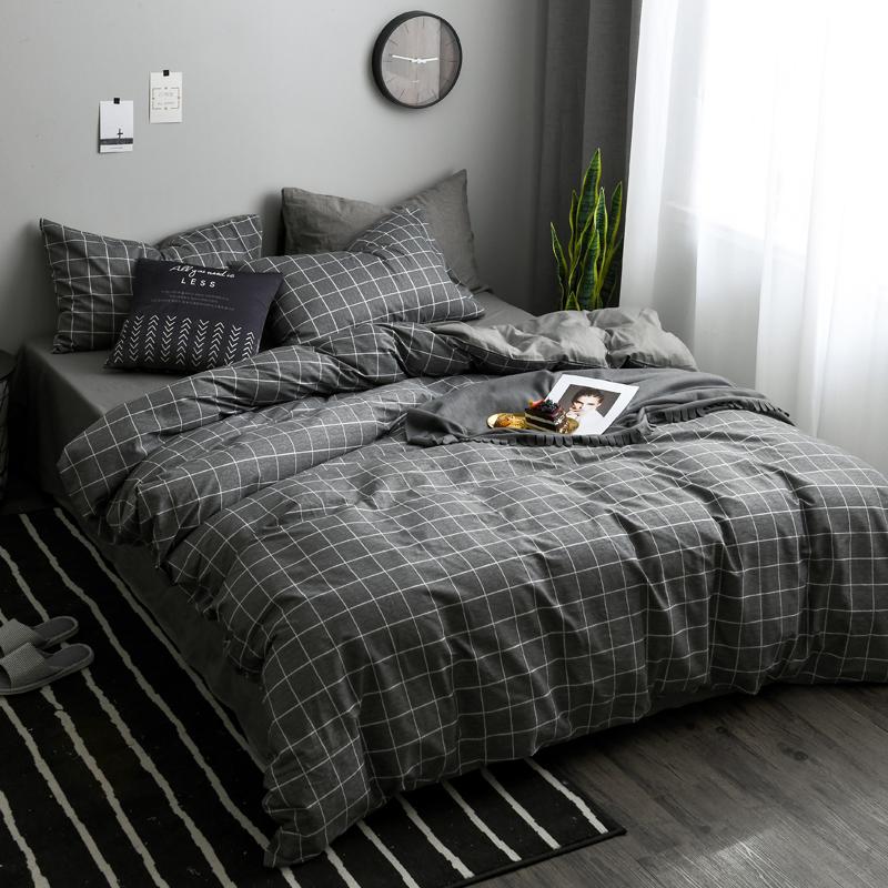 北欧网红款四件套全棉纯棉被套学生宿舍床单人三件套床上用品床笠
