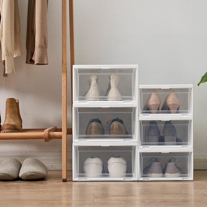 日本IRIS愛麗思透明家用鞋盒翻蓋塑料防塵防潮加厚男女鞋子收納盒