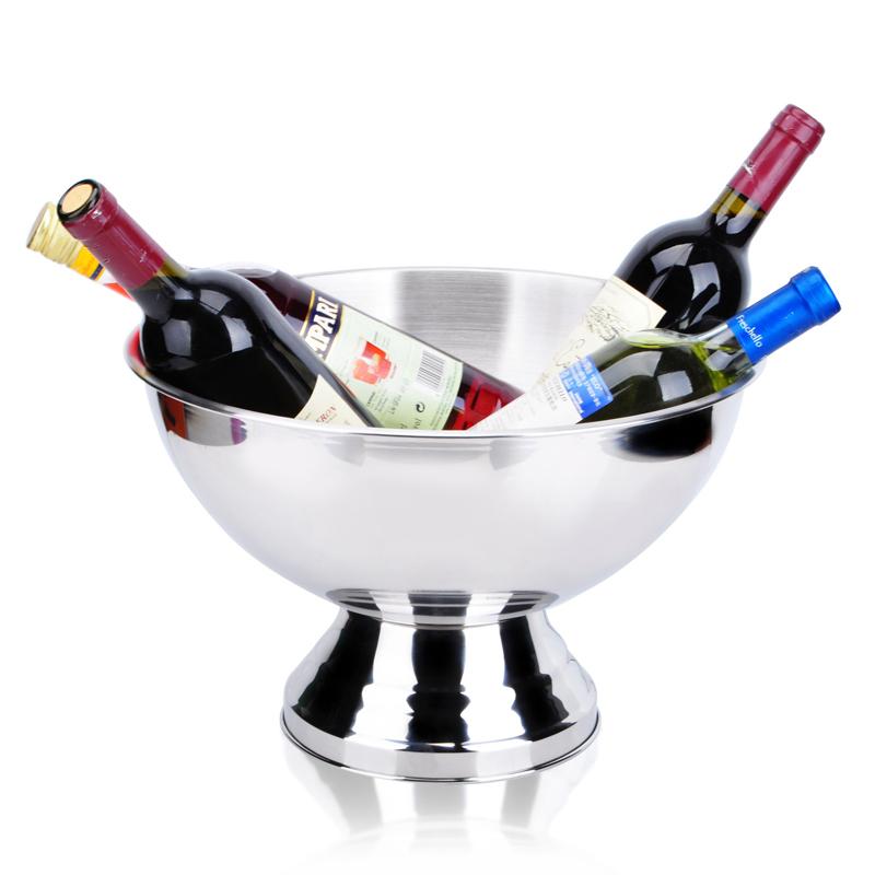 出口304不锈钢香槟盆 巨型香槟桶 超厚宾治盘 特大容量冰桶宾至盘