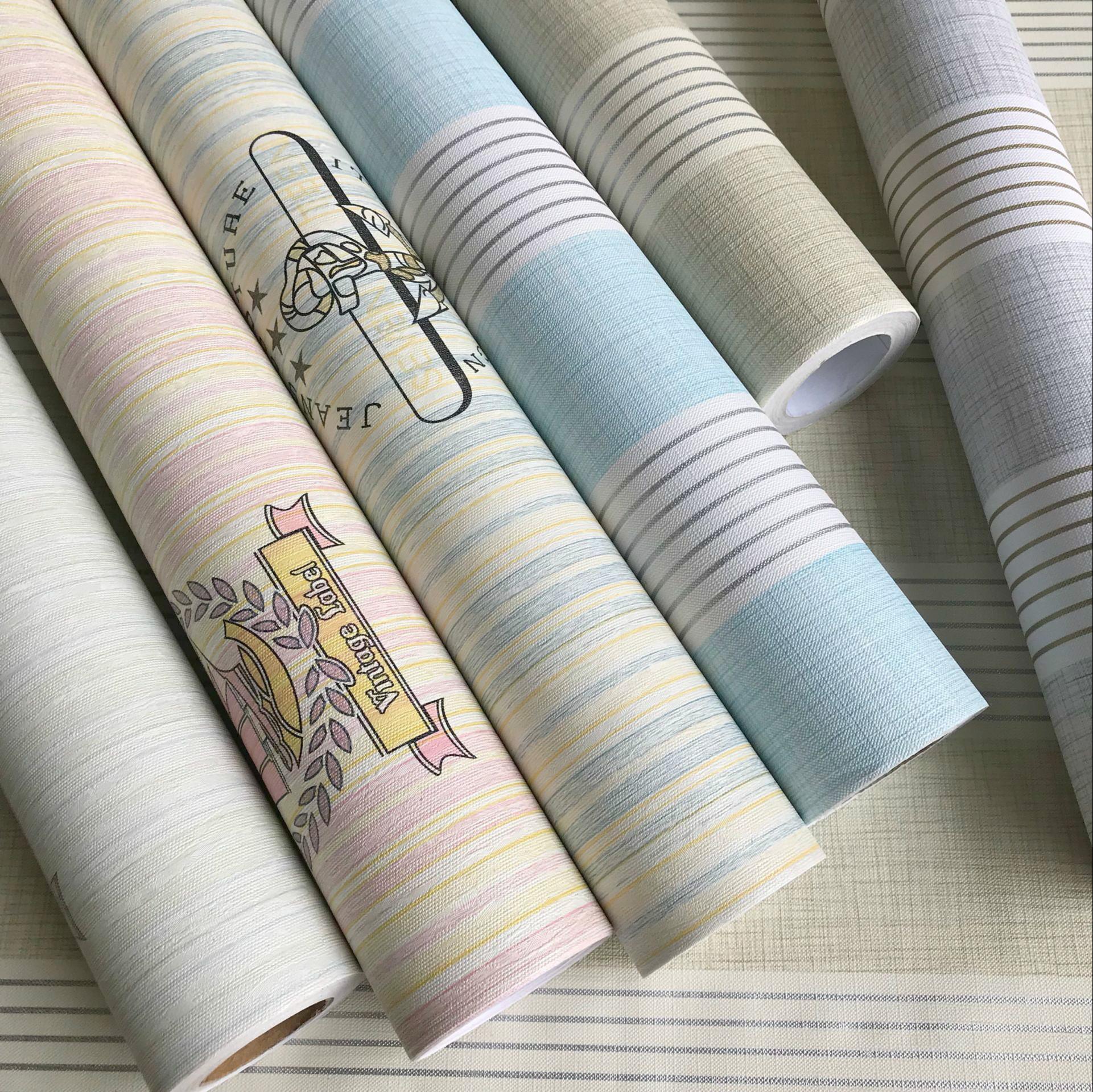 自粘自贴加厚防水墙纸壁纸卧室客厅背景田园韩国新品加厚包邮 pvc