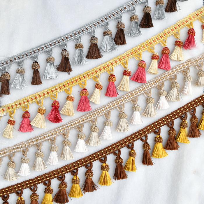 天河花边新款正品窗帘双色全吊穗子花边窗帘装饰厂家沙发辅料配件