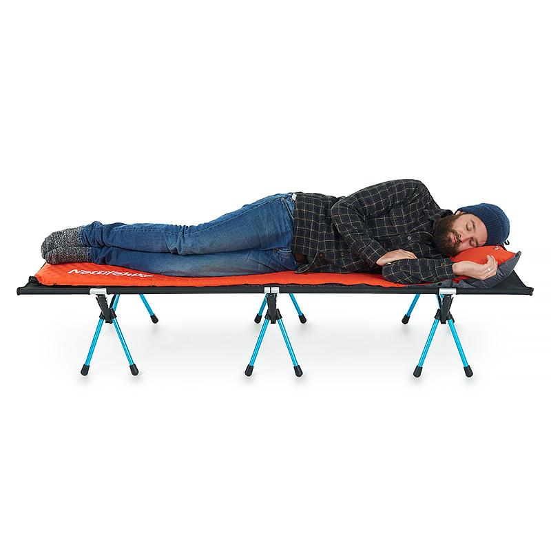挪客超轻行军床铝合金折叠床户外便携简易单人床家用午睡午休床 NH