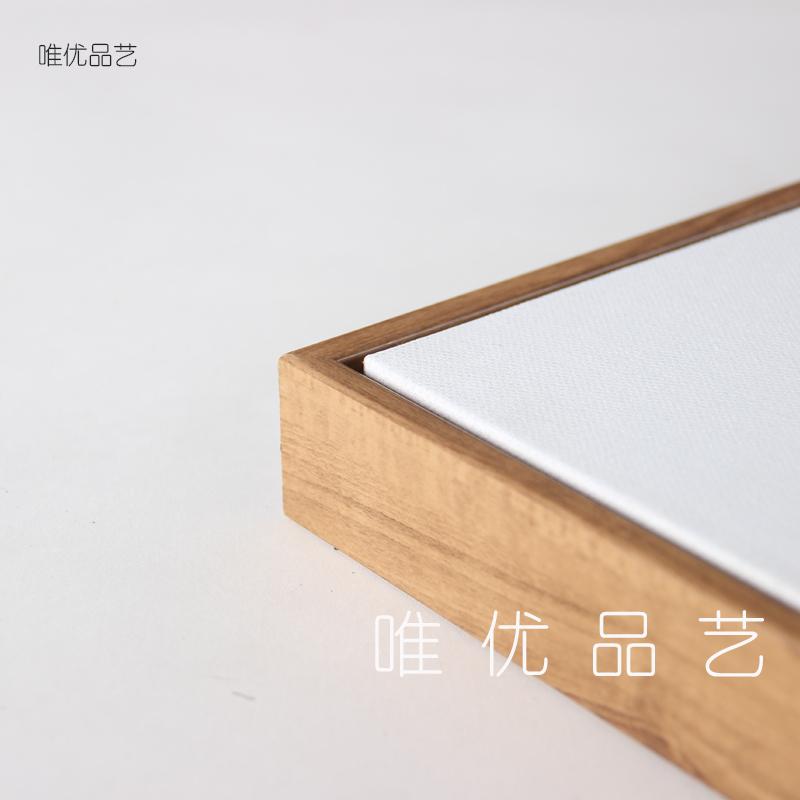 L型简约无框画油画丙烯画相框装裱画框挂墙定做大尺寸DIY油画框