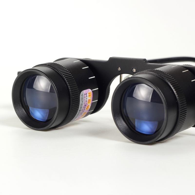 拜斯特垂钓钓鱼望远镜眼镜式3.5倍双目近距离观察镜看演唱会比赛