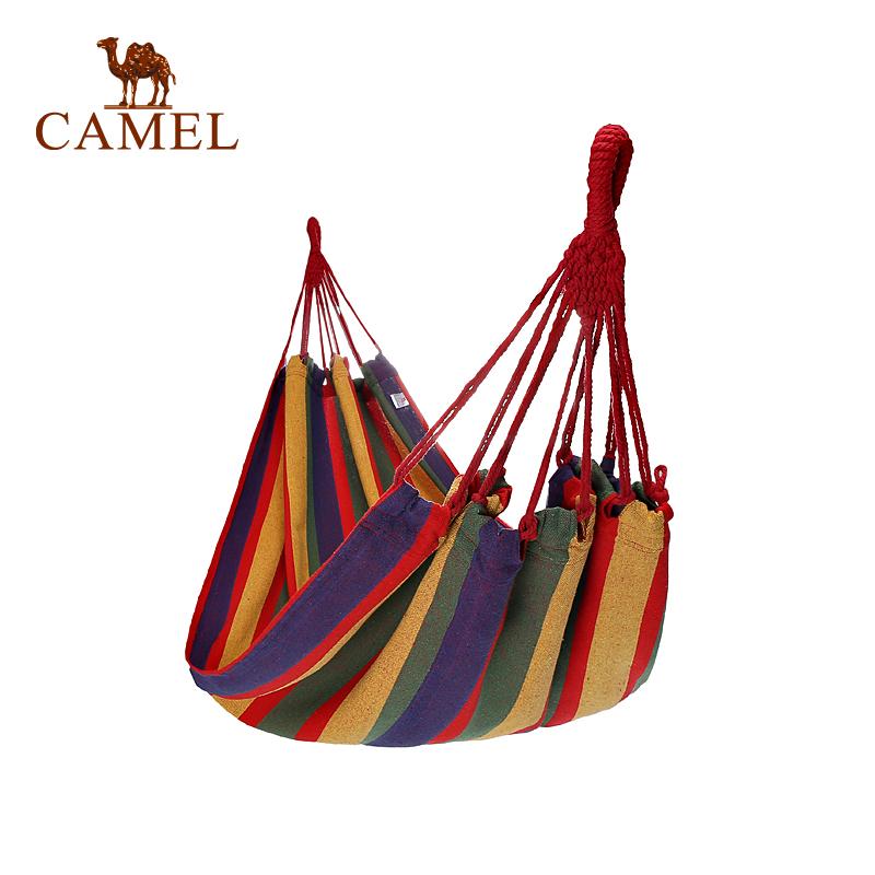 野外旅游郊游露营室内外吊椅学生宿舍秋千吊床 骆驼户外吊床 CAMEL