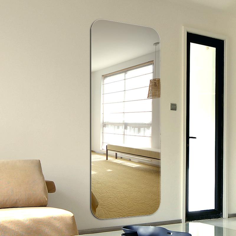 YISHARE无框穿衣镜子卧室试衣镜贴墙全身镜圆角壁挂镜装饰镜银镜