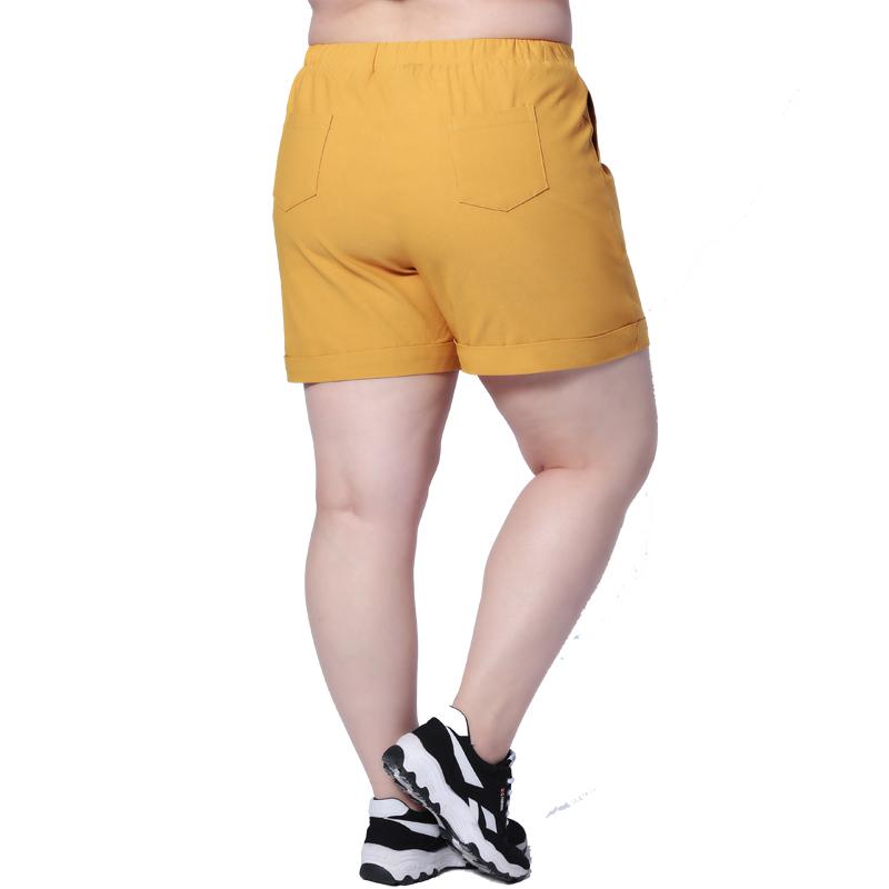 韩版胖mm短裤夏女大码女装弹力加肥加大四分裤休闲宽松热裤200斤