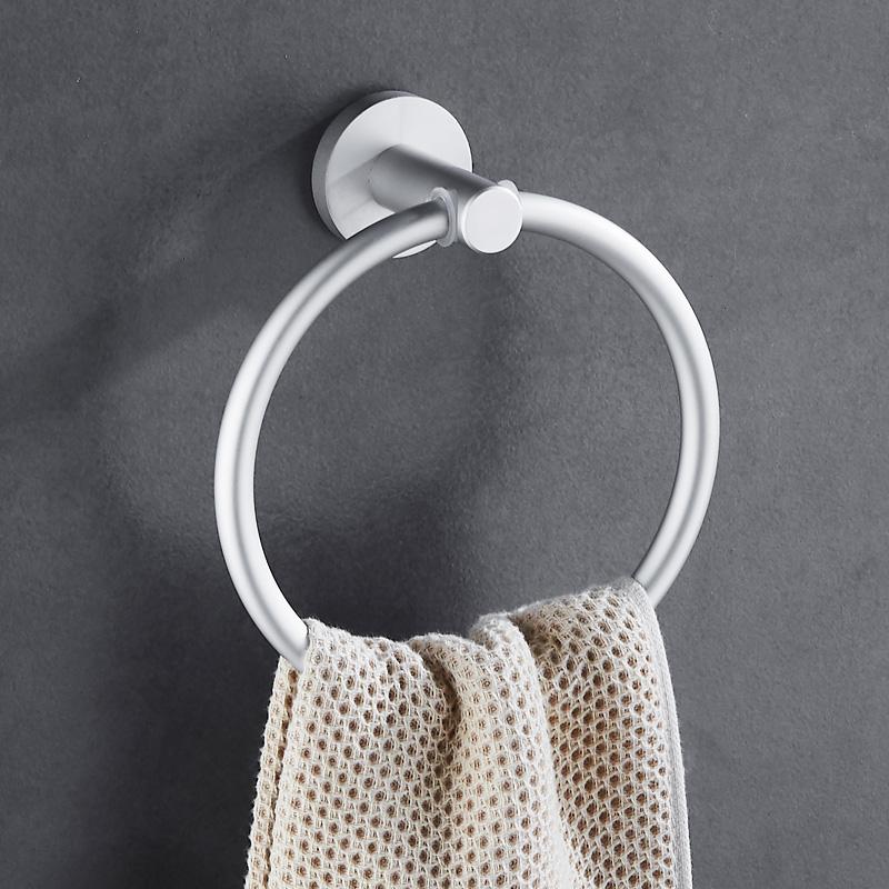 太空鋁毛巾環毛巾掛環毛巾圈毛巾掛毛巾架浴巾環圓環衛生間