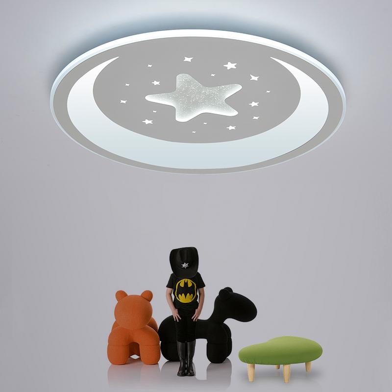 客厅灯男孩女孩公主温馨星月卧室灯书房灯具 led 超薄儿童房吸顶灯