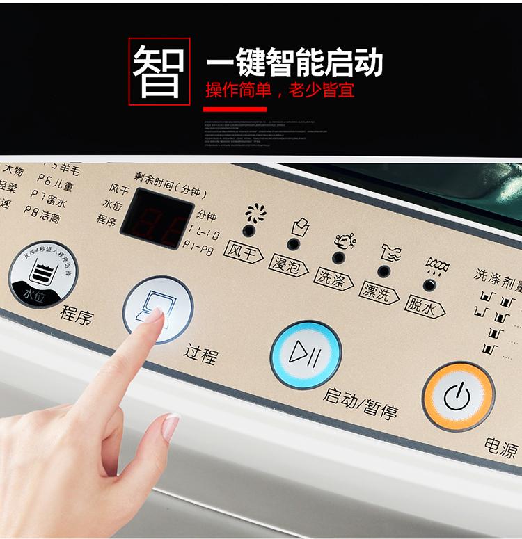 家用波轮洗脱一体宿舍美乐小型迷你冼衣机 10KG 8 7.5 洗衣机全自动