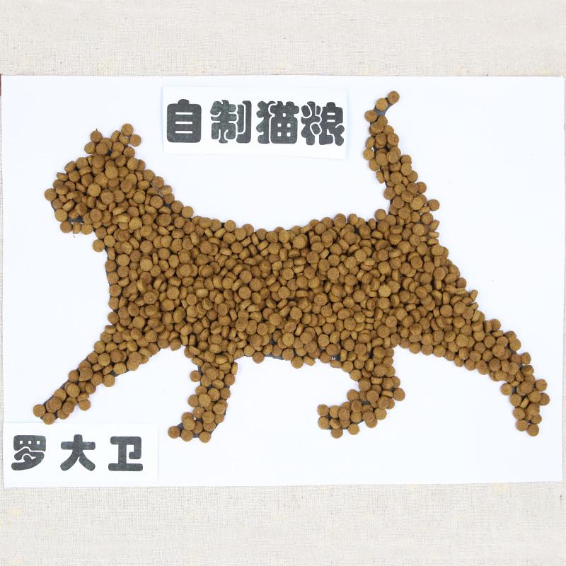 狗教授自制天然幼猫成猫老年猫鱼饭主粮全猫粮美短英短5斤包邮优惠券