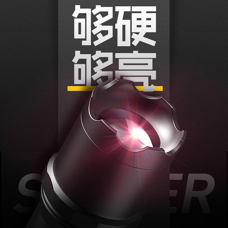 遠射燈 led 便攜小家用多功能 w 戶外 1000 手電筒強光可充電超亮小氙氣