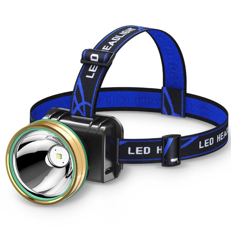 米头戴式手电筒超亮夜钓鱼矿灯 头灯强光充电防水感应远射  LED 3000