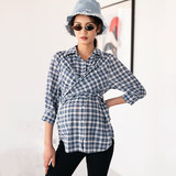 BELLYWEAR2019 autumn new product maternity shirt fashion loose cross strap pregnant mom shirt tops