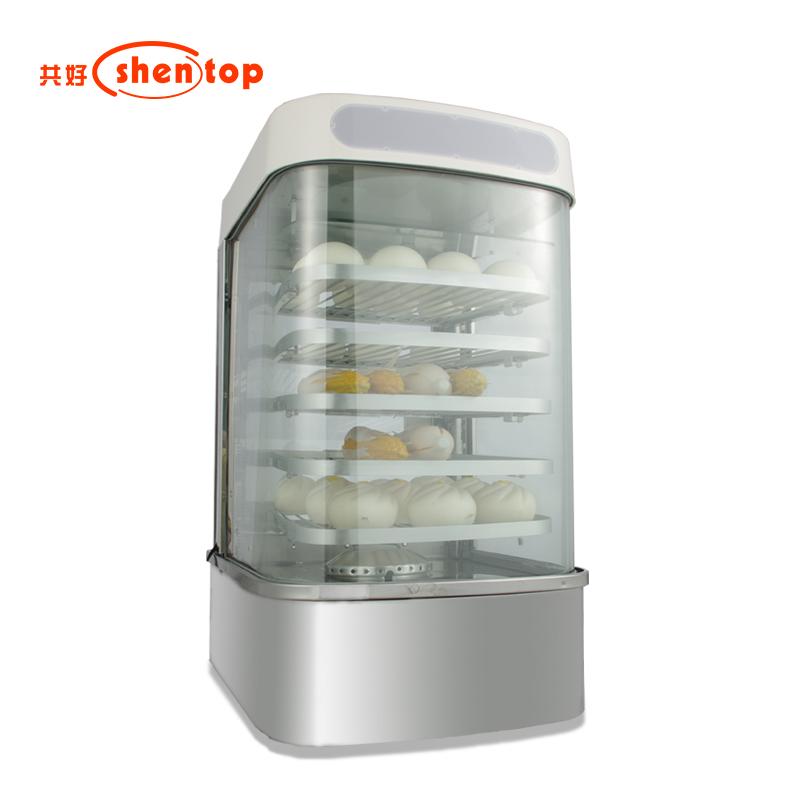 共好蒸包子机商用小型台式全自动机器玻璃蒸柜箱保温便利店早餐店