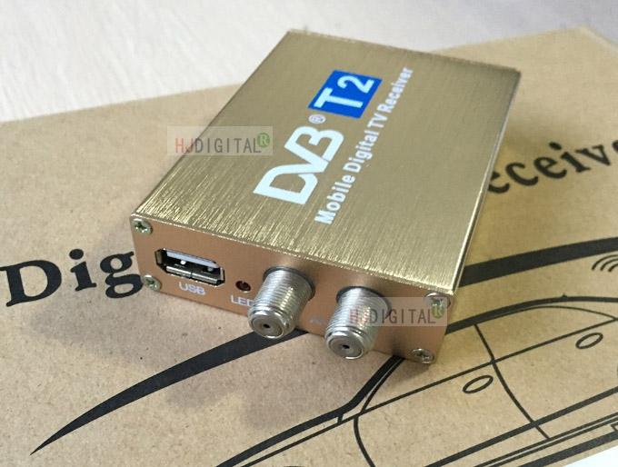 车载机顶盒Car TV Tuner DVB-T2 Double 2 Antenna出口欧洲东南亚