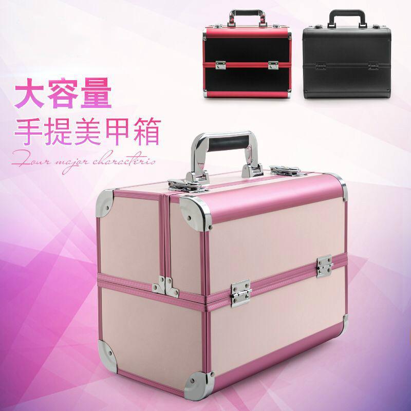 專業化妝包手提美甲紋繡彩妝半永久工具箱韓國包郵