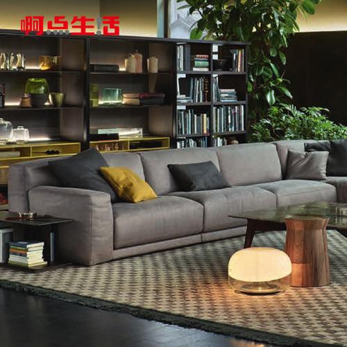 啊点生活北欧时尚羽绒布艺沙发简约可拆洗转角沙发客厅家具 ts129
