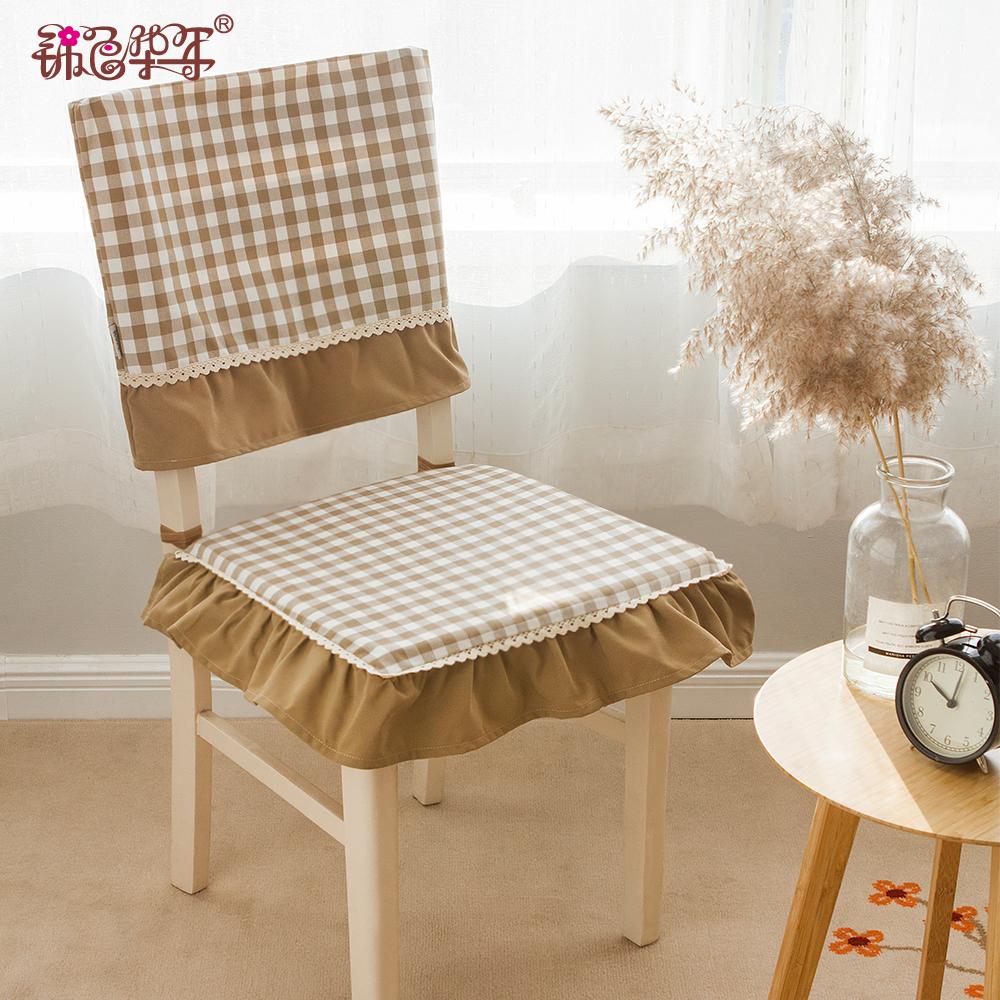 可拆洗椅墊坐墊布藝加厚透氣學生電腦椅墊子歐式餐桌椅子椅墊椅套