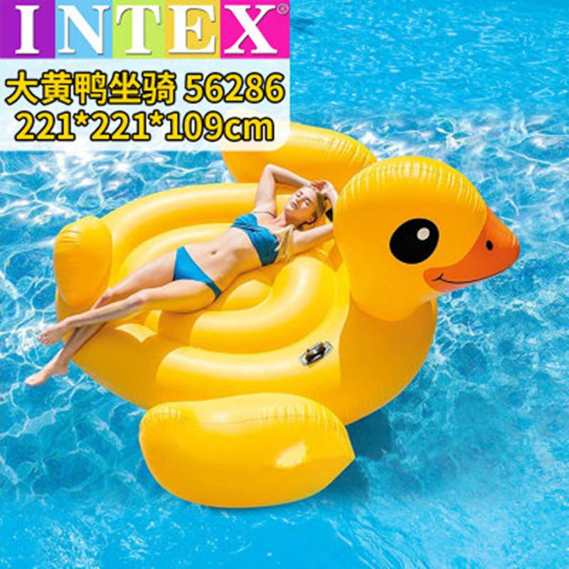 独角兽火烈鸟充气浮床浮排成人儿童水上气垫冲浪板坐式游泳圈躺椅