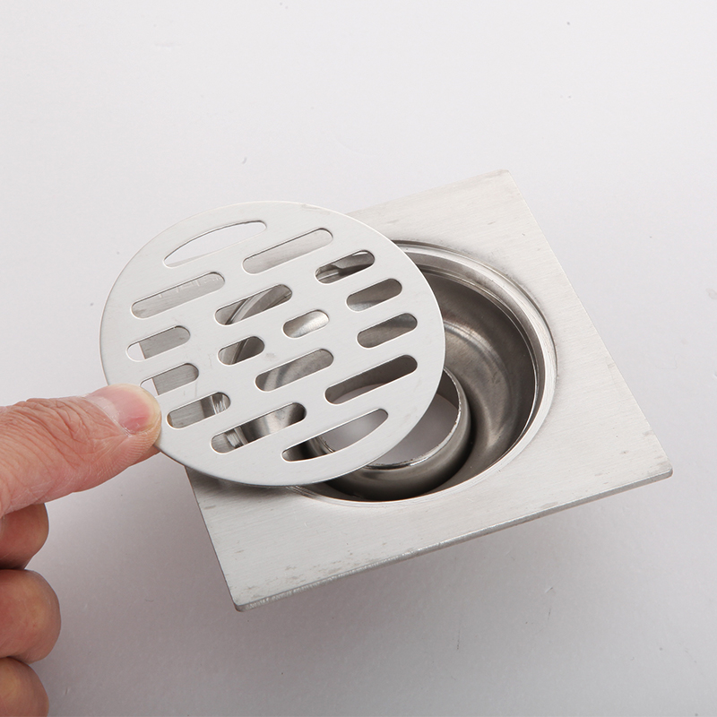 不锈钢地漏盖子加厚圆形盖片防臭芯卫生间双用洗衣机地漏盖板配件