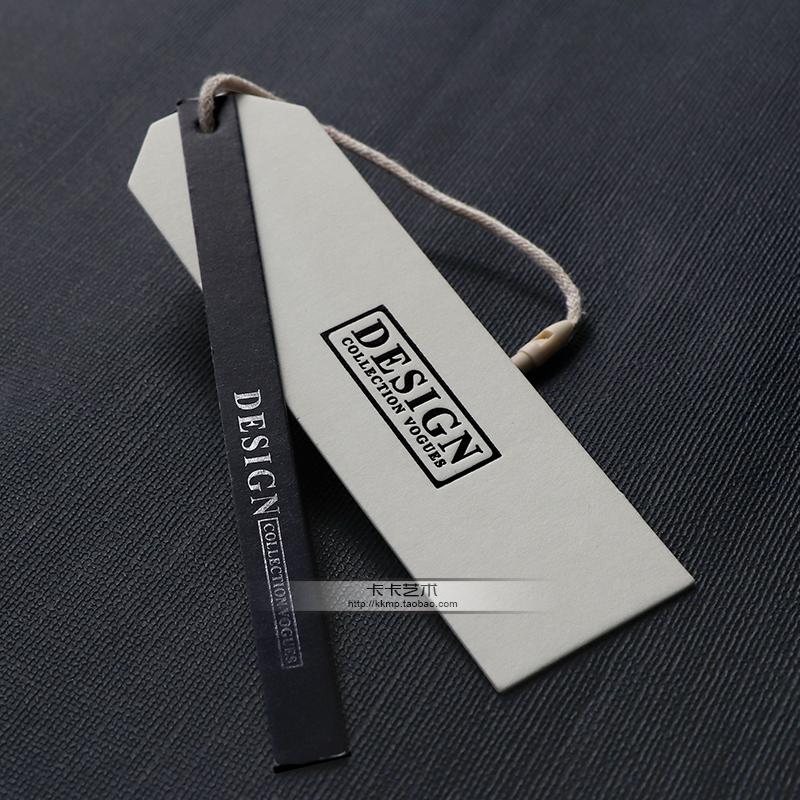 高档现货服装吊牌定做女装白卡吊牌衣服商标定制牛皮纸特种纸订做