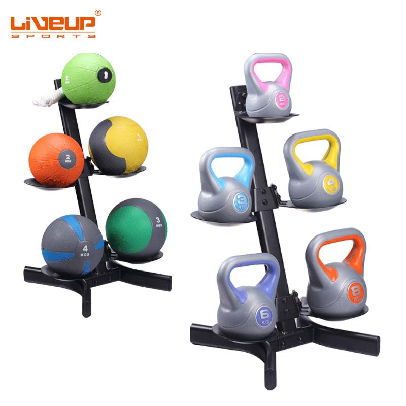 LIVEUP健身房家庭用壺鈴架kettlebell 藥球重力球架medicine ball