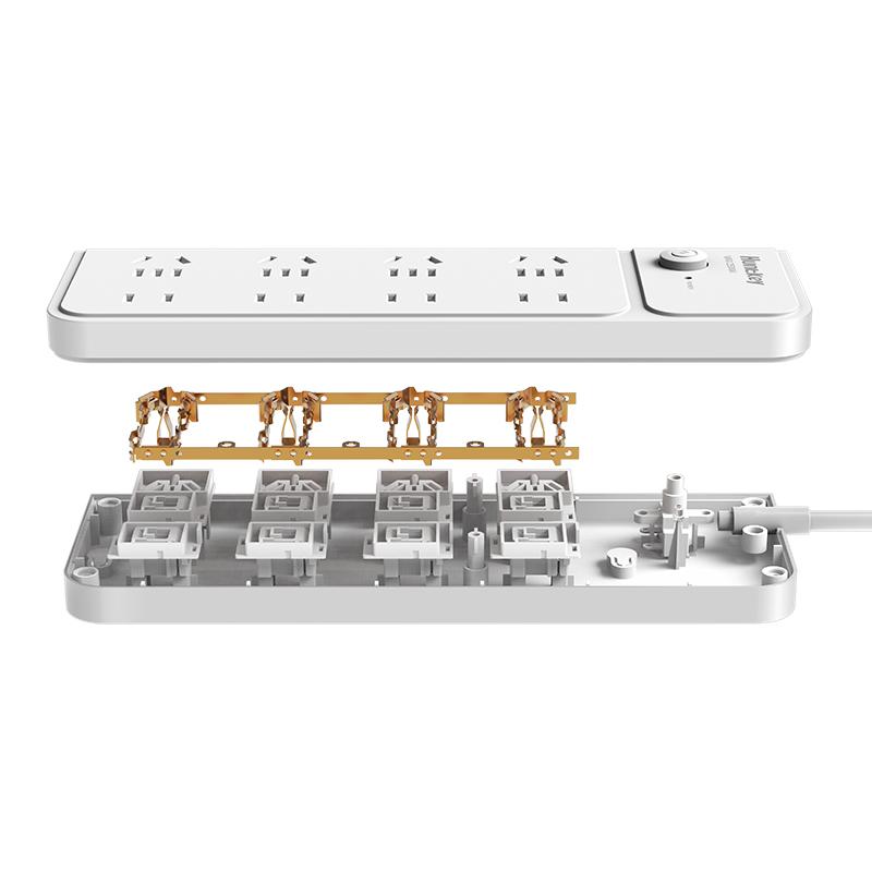 航嘉新国标插座排插8位大插排接线板插座1.8米插线板 sm803
