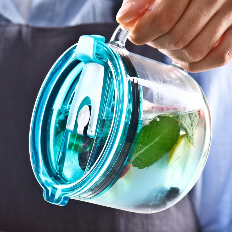 乐美雅钢化玻璃杯子牛奶杯咖啡杯热饮杯500ml微波炉耐热茶杯水杯