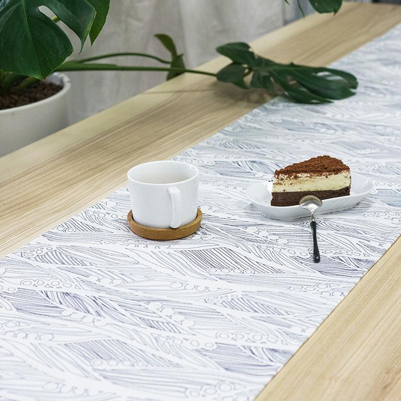 【草稿/ciaogao】原创设计 简约现代时尚桌旗  浅灰 线描