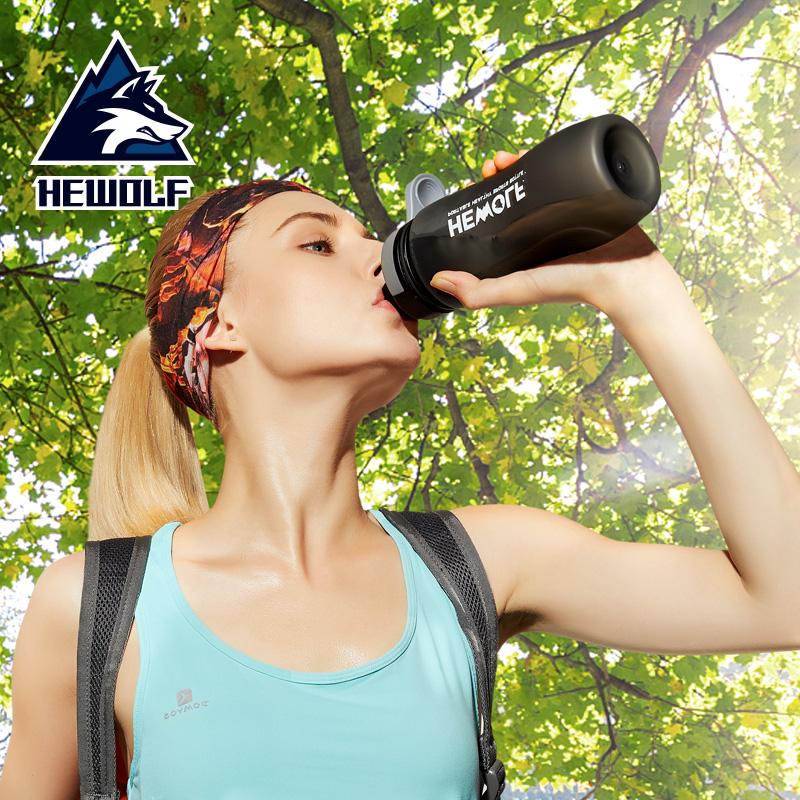 公狼戶外便攜水杯 學生磨砂隨手杯太空運動水壺 登山旅行水瓶健身