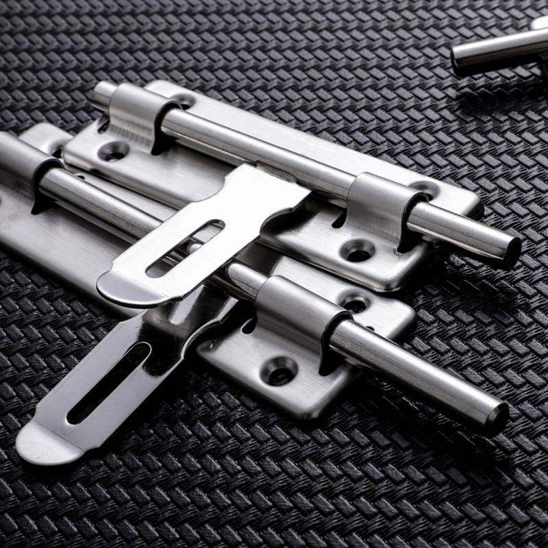 不锈钢插销锁扣防盗门明插销卫生间插销门扣门栓 4寸6寸8寸包邮