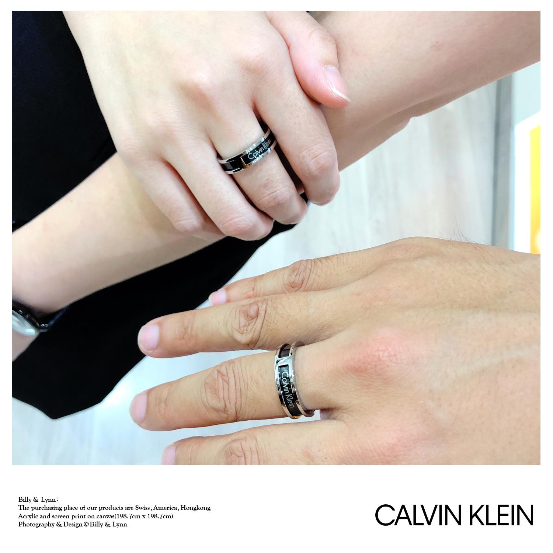 正品现货 窄版男戒指指环情侣 CK KJ7RBR2001 系列 HOLLOW 2018