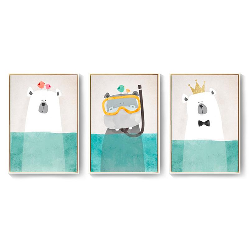 北欧风格装饰画客厅卧室餐厅床头挂画现代简约创意壁画沙发三联画