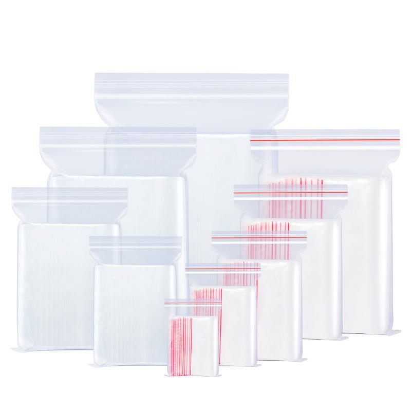 14丝PE9.1号自封袋20*30cm中大加厚透明食品包装密封袋批发100个