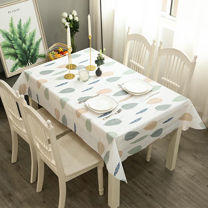 北欧餐桌布防水防烫防油免洗塑料学生桌布格子台布茶几布PVC桌垫