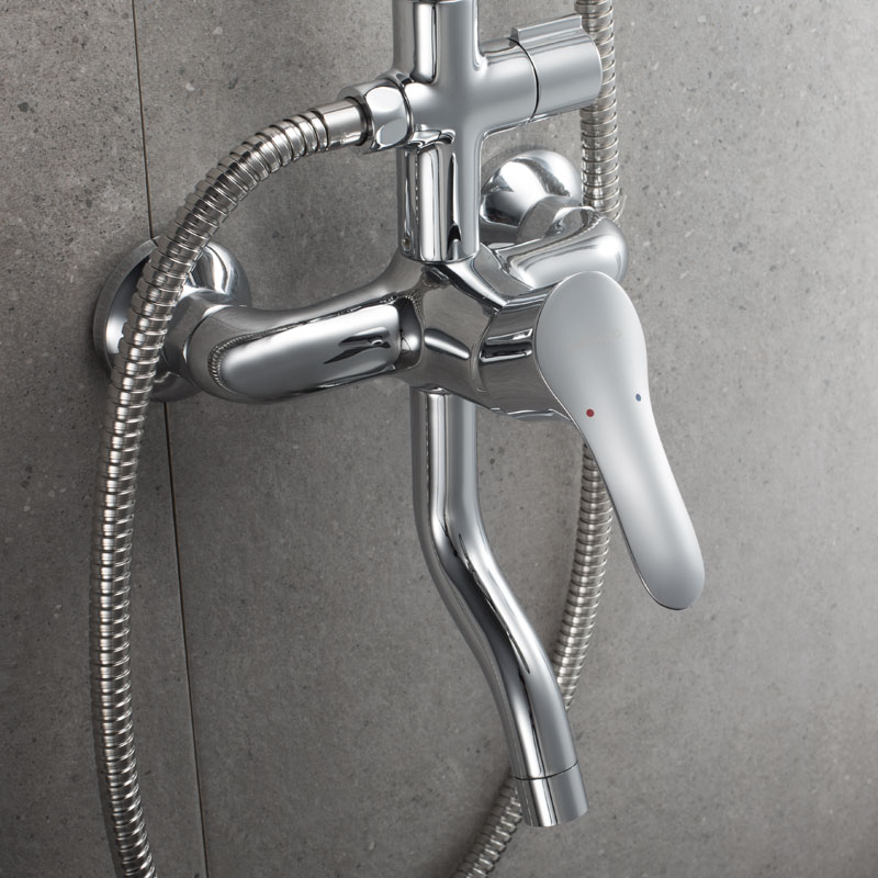 JOMOO九牧 不锈钢增压花洒套装冷热淋浴花洒套装沐浴淋浴器 36281
