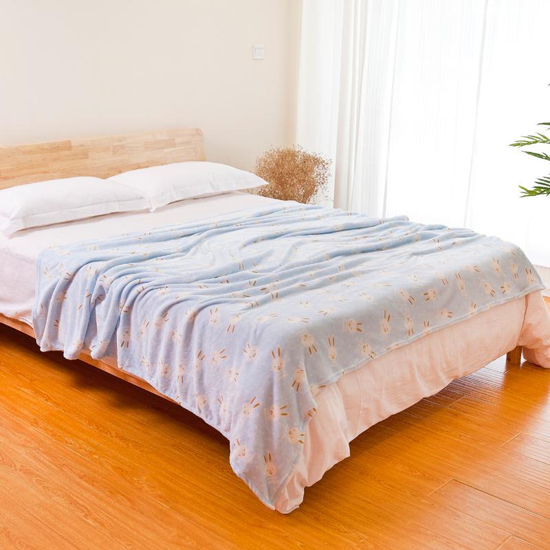 冬季珊瑚绒毛毯加厚保暖法兰绒床单女生宿舍单人小被子午睡毯子