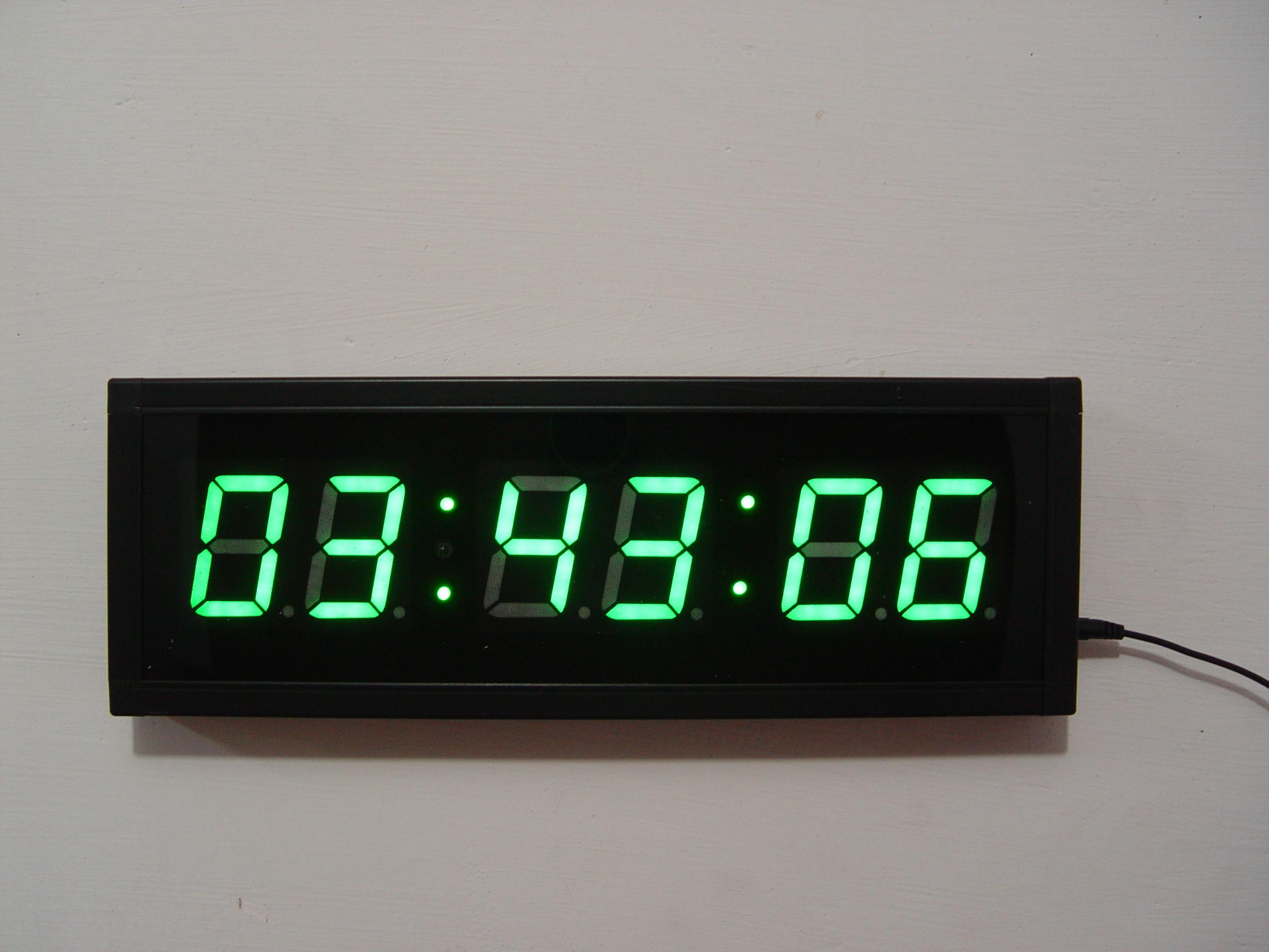 双面会议计时器LED数码提醒器考试健身钟倒计时多人赛跑比赛高亮
