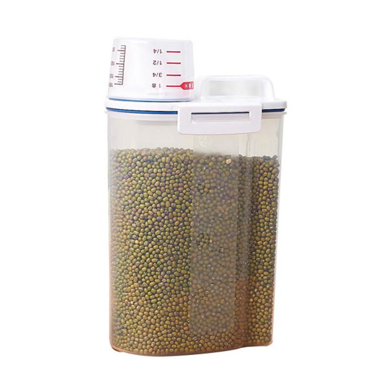 日本密封防潮2KG米桶防虫家用面粉桶杂粮收纳盒大米罐储米箱4个装