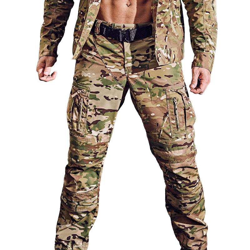 MAXGEAR穿山甲战术长裤男春秋款 军迷户外修身迷彩工装裤