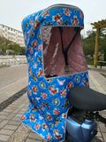 Bicycle child seat rain shed rear with warm canopy four seasons to increase electric car baby rear seat shed