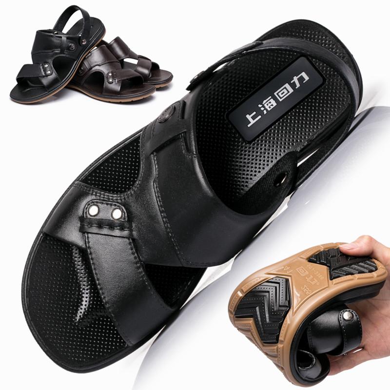 回力男鞋凉鞋2019夏季透气沙滩鞋防滑休闲鞋男士两用露趾凉拖鞋子