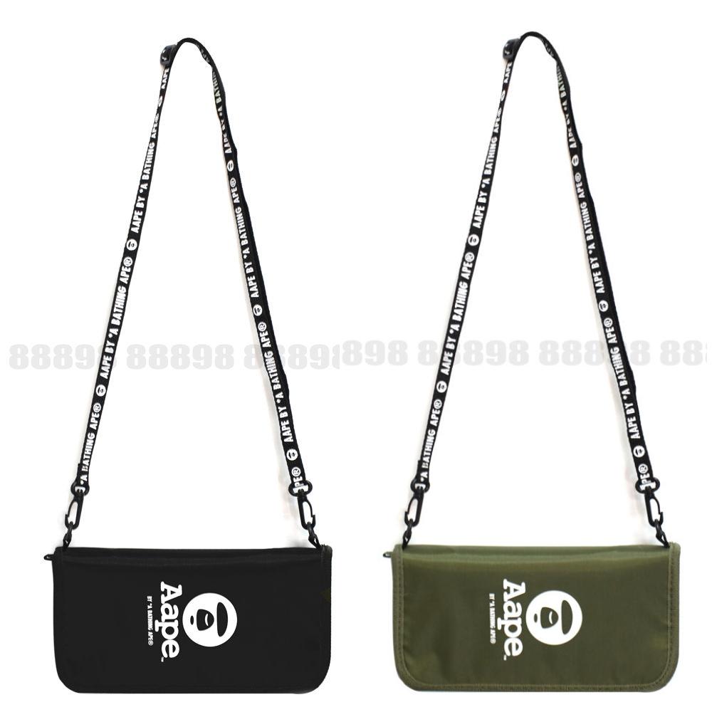 日本雜誌款軍綠色多功能便攜護照包可斜跨證件包長款證件夾手帳包