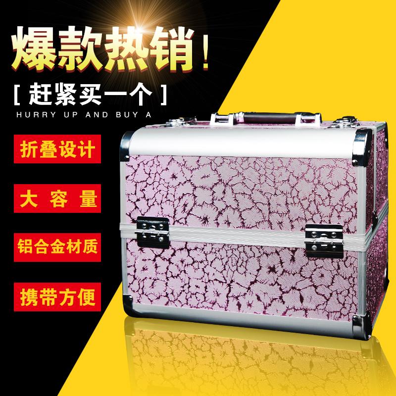 纹绣专用工具箱手提双开2层便携式化妆工具箱纹眉专用箱子纹绣箱