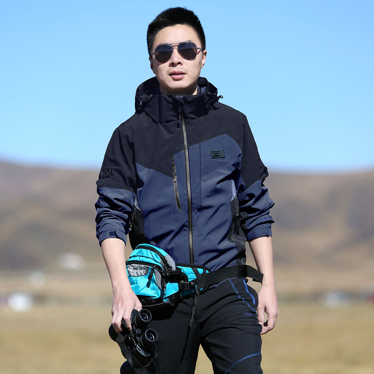 雪丘岛秋冬女士新款韩版防风保暖冲锋衣三合一两件套加厚抓绒内胆