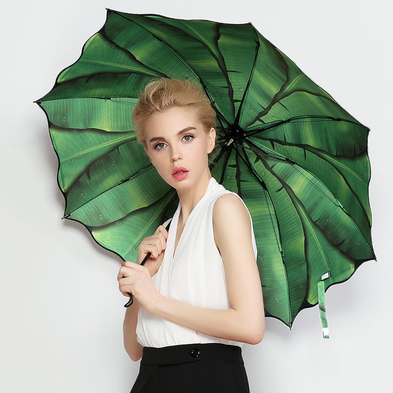 羚羊早安 晴雨伞女折叠黑胶防晒防紫外线晴雨两用太阳伞