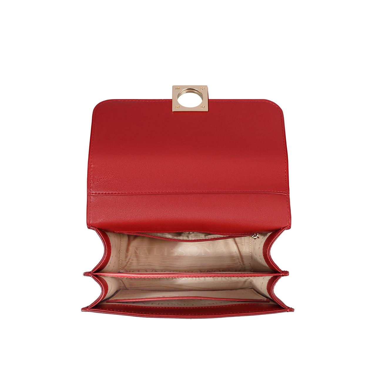 迪桑娜包包真皮质感女包 2019新款小方包斜挎包链条单肩包风琴包