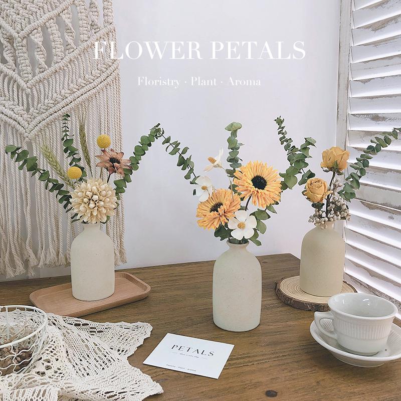 尤加利叶松果满天星干花花束装饰摆件永生花客厅摆设真花风干天然